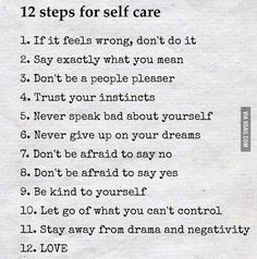 12 steps of self care ❤️