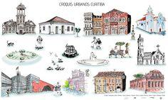 Croquis Urbanos Curitiba - Centro Histórico