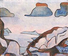 Albert Pfister (schweizerisch, 1884 - 1978) Titel: Berglandschaft , 1910 - 1910 Painting, Art, Switzerland, Mountain Landscape, Art Production, Painting Art, Art Background, Kunst, Paintings