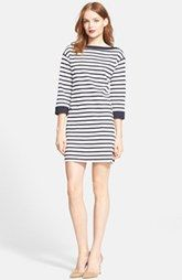 kate spade new york stripe shift dress
