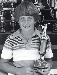 Boy wonder: Phil Mickelson with the spoils from a 1980 San Diego junior event.