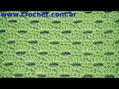 Punto Fantasía N° 53 en tejido crochet tutorial paso a paso. - YouTube
