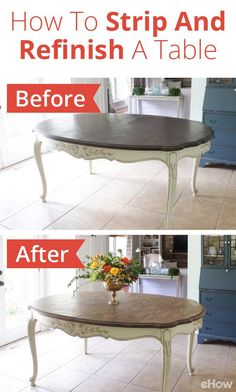 Once you learn how to strip, sand, and stain your table — while maintaining the beauty of the wood — you can keep this furniture piece in the family for years to come.  From homework and crafts to board games and Legos, the dining table surface can be one of the most important spots in your house! http://www.ehow.com/how_12343422_strip-refinish-dining-table.html?utm_source=pinterest.com&utm_medium=referral&utm_content=freestyle&utm_campaign=fanpage