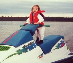 Jet Ski Baby Does Own Stunts. It's Safe with a Life Jacket. - Parenting Fail ---- hilarious jokes funny pictures walmart humor fails