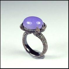 Lavender Jadeite Jade 紫羅蘭翡翠戒指