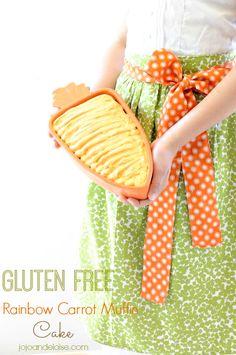 Gluten Free Rainbow Carrot Muffin Cake