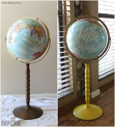 altered globe- before & after pics
