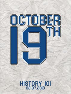 October 19th the only day that will happen twice this year