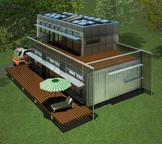 4 container house
