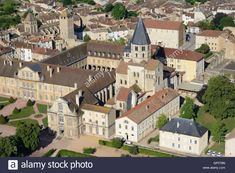 Cluny France, Burgundy France, Place Of Worship, Aerial View, Wonders Of The World, Tourism, Europe, Stock Photos, Mansions