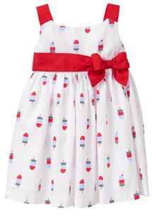 cbcb3c1cb52e4 NWT Gymboree Little Girls 3-6 Month Red White Blue Popsicle Dress Star  Spangled #