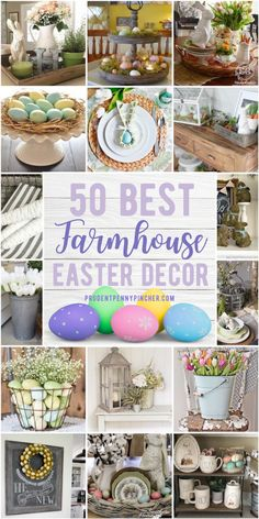 Add easter touches to your farmhouse decor with these DIY farmhouse easter decorations. From outdoor easter decor to DIY easter centerpieces, there are plenty of DIY easter decorations for the home Oster Dekor, Diy Osterschmuck, Diy Ostern, Pin On, Diy Easter Decorations, Easter Centerpiece, Centerpiece Decorations, Thanksgiving Decorations, Mother's Day