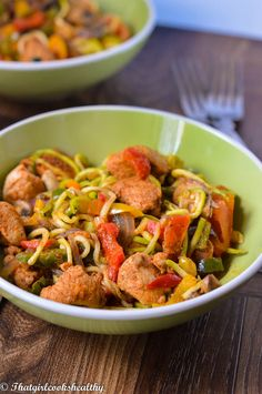 Cajun chicken with zoodles