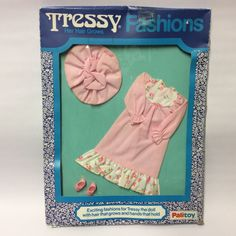 Vintage Palitoy Tressy Doll Fashion Clothes Pink Nightdress Set Hat Shoes BOXED | 16.57+4.95
