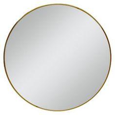 """Round Mirror Brass 28"""" -Threshold™"""