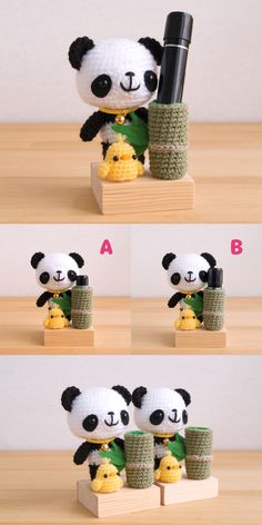 Easy Crochet Animals, Crochet Panda, Kawaii Crochet, Crochet Animal Amigurumi, Crochet Animal Patterns, Stuffed Animal Patterns, Crochet Dolls, Amigurumi Patterns, Crochet Key Cover