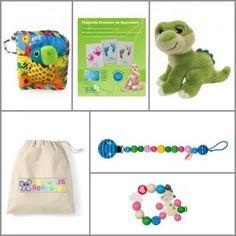 Coffret-cadeau Naissance -  ZAZOPACK+ TIWA DINO 0-3 mois - 68.50€ - Jouets + Livre + Pack créatif :  Coffret cadeau enfant décliné autoiur d'un adorable dinosaure vert dont les yeux vous suivent partout.