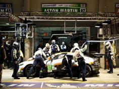 Aston Martin Le Mans pit stop