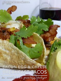 Bacon Egg and Cheese Breakfast Taco – Low Carb | Gluten Free Breakfast nonsense from Fluffy Chix Cook!
