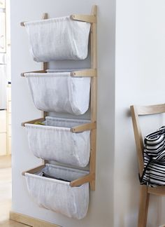 Norrgavel Påshylla - avaiable with 2 or 4 baskets in linen - many colour options Scarf Storage, Storage Shelves, Hanging Storage, Laundry Basket Dresser, Hm Home, Apartment Hacks, Hallway Decorating, Decorating Ideas, Home Office Decor