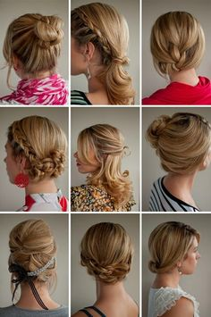 I do the same thing with my hair everyday... maybe because I have a baby and never leave the house... but these are really pretty styles. jmhague malisammrhc
