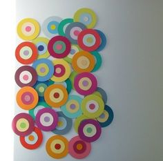 LOVE! Wall art made out of paint chips!