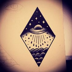 american traditional space tattoo - Google Search