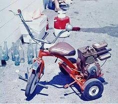 Motorized Tricycle, Build A Go Kart, Custom Trikes, Custom Moped, Custom Motorcycles, Lowrider Bicycle, Aluminum Can Crafts, Mini Chopper, Motorised Bike