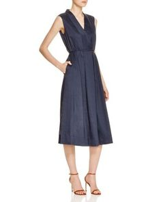 Lafayette 148 New York Tawny Belted Dress - 100% Bloomingdale's Exclusive | Bloomingdale's