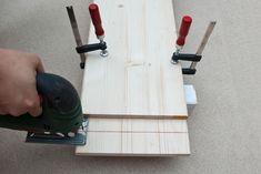Cutting a straight line setup