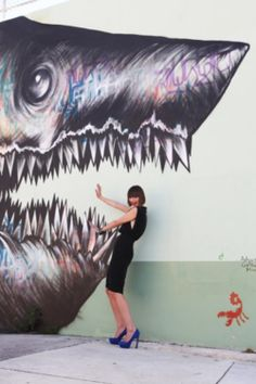 Me in Wynwood. Big shark, great shoes! http://www.refinery29.com/lou-dickinson-interview-pictures