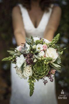 ramo novia con suculentas