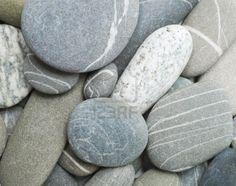 kiezelsteen grote stenen als achtergrond Stockfoto