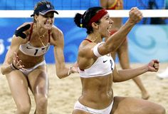Kerri Walsh & Misty May-Treanor (USA) 2x Olympic Beach Volleyball Gold Medalist! - AND now 3x GOLD MEDALIST!!! #Athens2004 #Beijing2008 #London2012