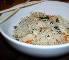 This was really good, used more veggies, brown rice noodles were excellent. Chicken Mei Fun Recipe-Using beef possibly, going to put in ginger and more vegetables. Also using brown rice noodles (found at whole foods)