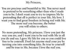 To My Princess or Prince Virtuous Woman, Godly Woman, Uplifting Quotes, Inspirational Quotes, My Daughter Quotes, Gods Princess, Daughters Of The King, Magic Words, Walk By Faith