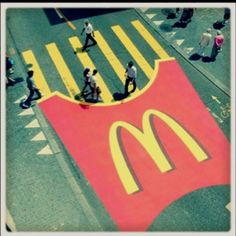 Using zebra crossing for advertising!!