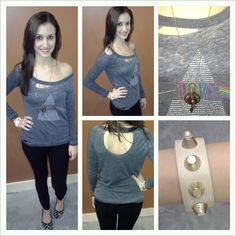 """""""Chaser"""" Graphic Tee with Black """"Denimocracy"""" Skinnies ~ Apricot Lane Boutique South Florida"""