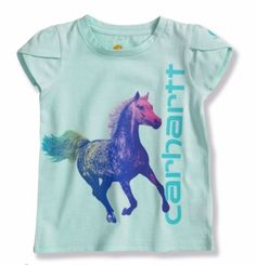 Carhartt CA9253 Infant/Toddler Girls Tulip Sleeve Horse T-Shirt Size 6M, 12M,18M #Carhartt #Everyday