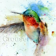 Hummingbird Watercolor Bird Art Print By Dean Crouser Etsy - Jewell Limited Edition Watercolor Print From An Original Painting By Dean Crouser Original Has Been Sold Signed And Numbered Limited Edition Giclee Print Edition Size Prints This Print Is Ava # Watercolor Hummingbird, Hummingbird Art, Watercolor And Ink, Watercolor Paintings, Watercolors, Watercolor Trees, Watercolor Artists, Watercolor Portraits, Watercolor Landscape