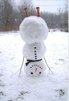 Upside down snowman!