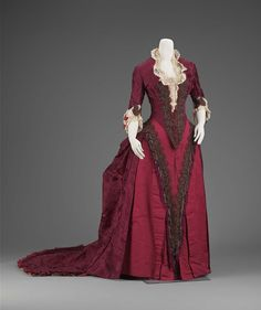 Reception or dinner dress  about 1883  Designed by Charles Frederick Worth, English (active in France), about 1825–1895 EnglishFor House of Worth