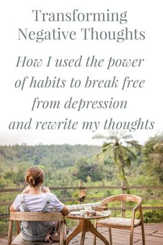 If you struggle with negative thinking and don't know how to break free - check this out. Negative thoughts are a habit you can break! #selftalk #negativeselftalk #habit #pattern #cycle #selfcare #mentalhealth #health #wellness #wellbeing #depression