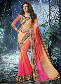 Beauteous Multicolor Shaded Chiffon Designer Saree, Product Code :12699, shop now http://www.sareesaga.com/beauteous-multicolor-shaded-chiffon-designer-saree-12699  Email :support@sareesaga.com What's App or Call : +91-9825192886
