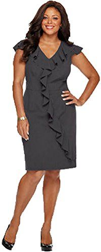 Spense Plus Size Cap Sleeve Banded Waist Ruffle Charcoal Grey Dress (20W) Spense Woman http://www.amazon.com/dp/B00RKHZSX0/ref=cm_sw_r_pi_dp_rfQyvb13E9JNA