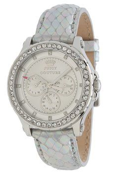 Juicy Couture Juicy Couture 1901063 Pedigree Womens Silver Metallic Leather Watch
