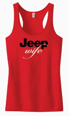 Jeep Wife Racerback Tank Top by AdSpecial on Etsy