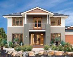 Exterior house color ideas australia - House and home design Dulux Exterior Colours, Exterior Gray Paint, House Exterior Color Schemes, House Paint Exterior, Craftsman Exterior, Modern Farmhouse Exterior, Outside House Colors, Rendered Houses, House Color Palettes