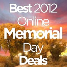 Online Memorial Day Sales or else