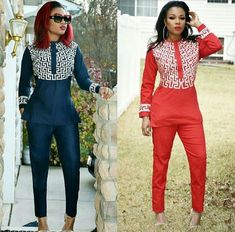 African fashion is available in a wide range of style and design. Whether it is men African fashion or women African fashion, you will notice. African Print Pants, African Print Dresses, African Fashion Dresses, African Dress, African Attire, African Wear, Chic Outfits, Fashion Outfits, Fashion Ideas
